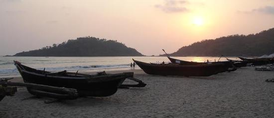 Palolem beach, dusk