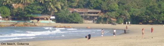 Gokarna, Om beach, Karnatika