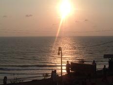 Varkala beach sunset, kerala