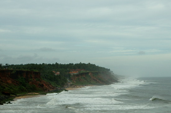 Varkala beach, rough sea