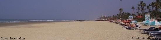 Colva beach, Goa, panormic