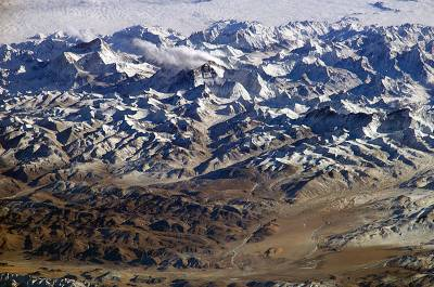 Himalayas from space, Himalayas, Panoramic