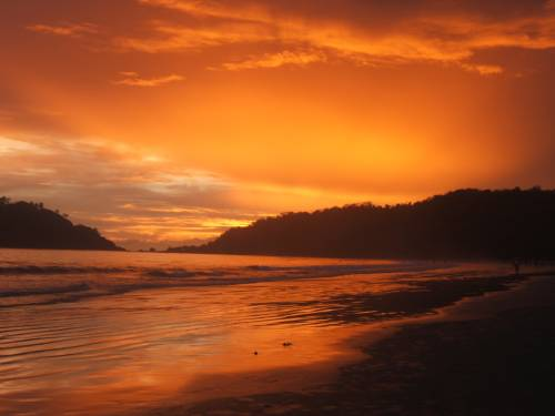 Sunset palolem, Tropical beach, sunset