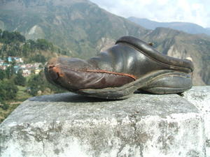 India Travel Blog, My mended Shoe