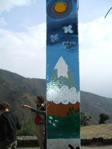 India Travel Blog, Painting at the Yongling school