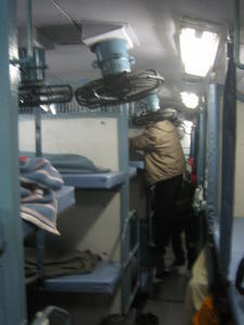 India Travel Blog, Bunks in the train, Indian Train