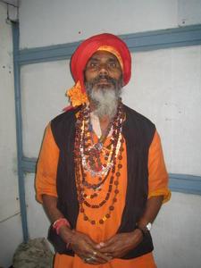 Holi man on train, India Travel Blog