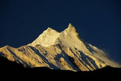 Manaslu Mountain, Himalayas, Mountain