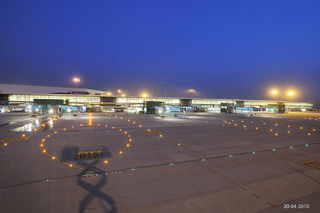 Runway at delhi terminal 3