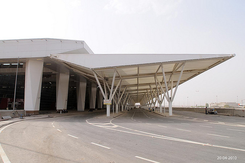 Ramp to departure, delhi ariport, terminal 3