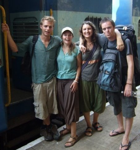Four Backpackers in India