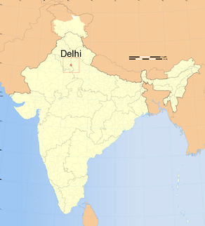 India map of delhi
