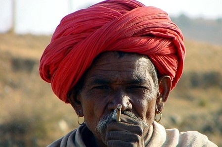 People of India, Indian man in red turban