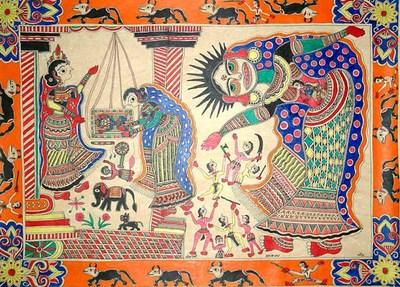 Indian art and Mythology, putana vadha