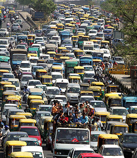 india air pollution from traffic