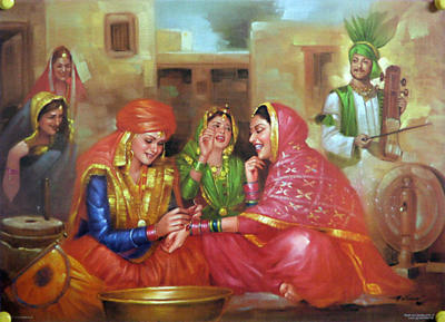 Indian Paintings Images on Indian Art Painting  Three Women