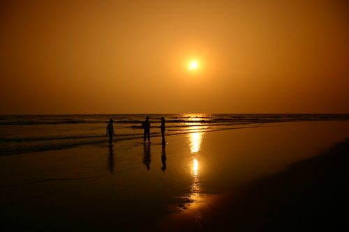 Sunset at Morjim Beach