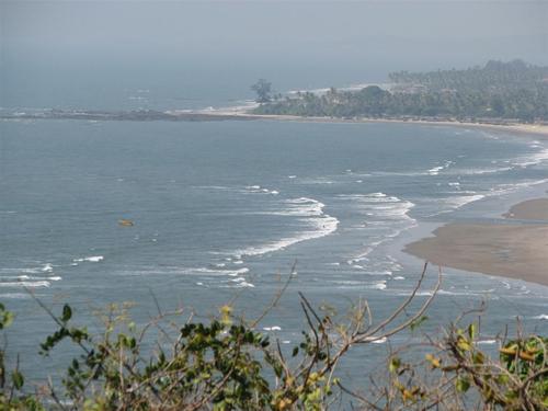 View of Morjim Beach