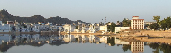 Pushkar lake panoramic