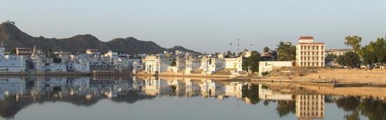 Pushkar lake panoramic