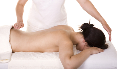 Reiki, woman back