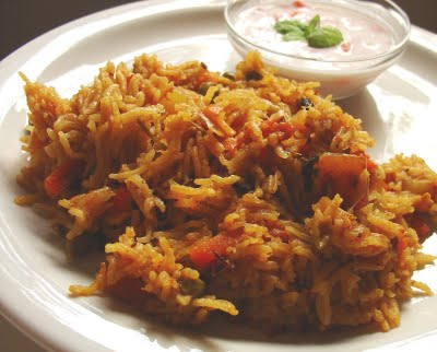 Spicy Vegetable Pulao, Vegetable Pulao rice