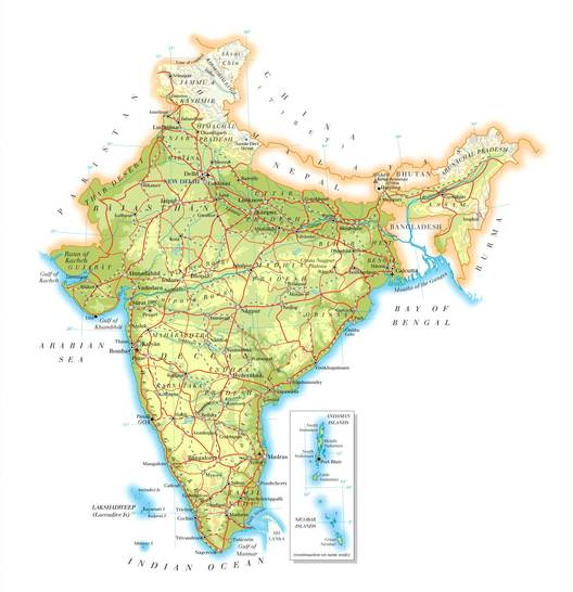 Map Of India Geographic.Map Of India