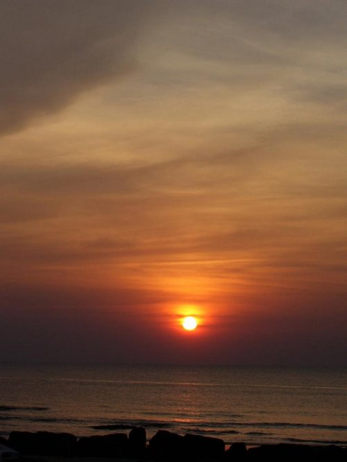 Vagator beach sunset, beach