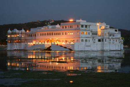 Lake apalce, Night, Lake, Palace,