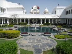 Taj Lake palace Udaipur, Udaipur, Lake, Palce Inside, garden