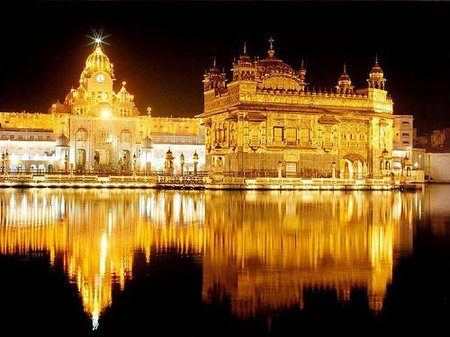 Golden temple at night, india