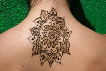 Henna pattern, back, traditional body art