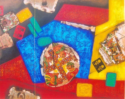 abstract Indian art