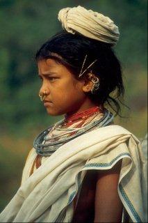 Puri beach girl, Orissa, INdia