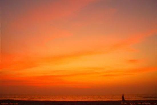 Arambol orange sunset
