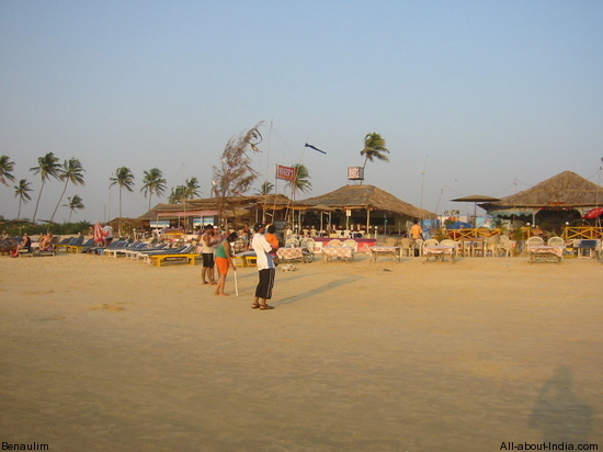 Colva beach, restaraunt