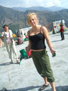 India Travel Blog, Kate and Green Paint
