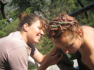 India Travel Blog, Dying Kates Hair