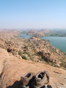 Hampi view of boulders