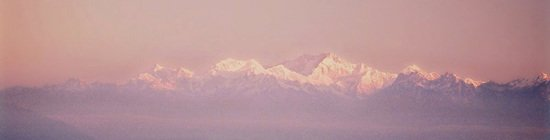Darjeeling mountain pink sunset