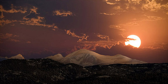 indian sunset, hymalayas