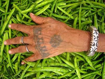 tribal hand tattoo, Indian body art