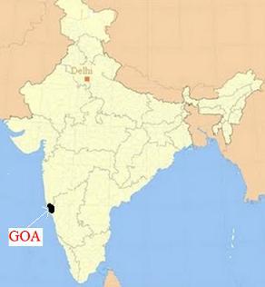 Map of Goa, India
