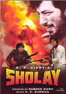 Sholay, Sholay poster