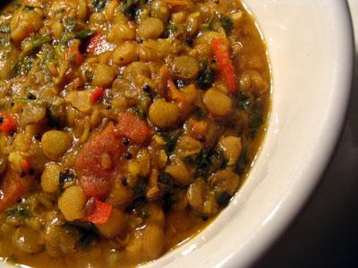 Lentil curry recipe, Plain lentil curry, indian curry