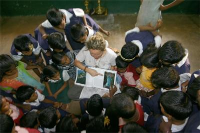 Me Volunteering in India